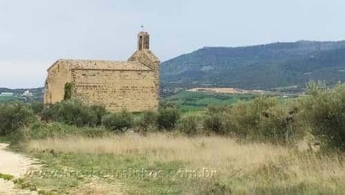 A Ermita de San Miguel, que fica a uns 700 metros da saída de Villatuerta.